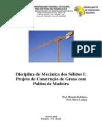 Disciplina Mecanica Dos Solidos I Projeto de Construção de Gruas Com Palitos de Madeira