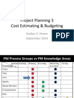 PM 04 Project Planning 3 - Cost Estimating & Budgeting