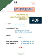 Laboratorio 02 de Electricidad