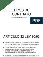 Tipos de Contratos en La Contratacion Estatal