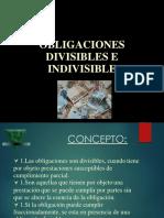 Obligaciones Divisible Se Indivisible s