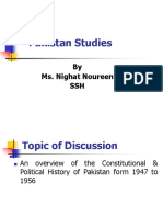 Pakistan Constitutional History From 1947 to 1956