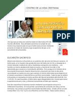 La Eucaristía Centro de La Vida Cristiana