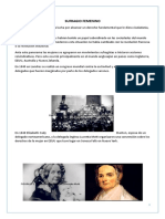 Sufragio Femenino e Instituciones de La Uni
