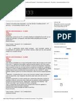 Casos Concretos Das Semanas 1 a 8 de Direito Constitucional II - 4º Periodo - Universidade Estácio de Sá