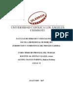 JURISDICCION Y COMPETENCIA EN EL PROCESO LABORAL