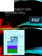 Slope Stability With Retaning Wall - Plaxis 2D