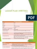 Example English Form 4 Lesson Plan (Writing)