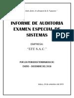 Informe de Auditoria de Sistemas Efe Sac-1