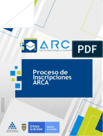 PROCESO DE INSCRIPCION ARCA