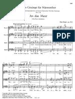 Op 83 Zehn Gesang (TTBB)