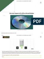 Cómo Hacer Etiquetas de CD y DVD Con Microsoft Publisher _ Techlandia