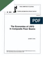1989 - 05 THE ECONOMIES OF LRFD IN COMPOSITE FLOOR BEAMS
