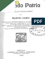 Gamio Manuel, Forjando Patria