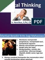 Critical Thinking Henrikus