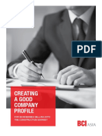 Creating a Good Company Profile