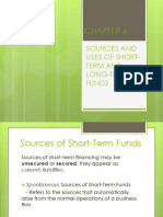Sources and Uses of Short Term and Long Term Funds