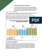 Lugares Con Mayor Porcentaje de Anemia en El Perú