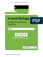 Pathogens and Disease as Biology Questions OCR Edexcel