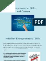 Entrepreneurship Careers Pp t