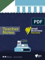 Small Business Secrets Teacher Notes