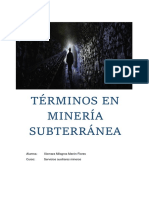 Terminos en Mineria Subterranea