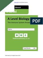 EDEXEL AS level markscheme immunity