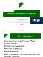Facebook als Kommunikationsinstrument für Vereine