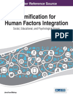 Gammification for Human Factor Integration