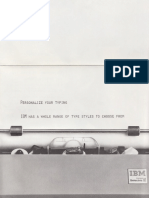 Personalize Your Typing Brochure