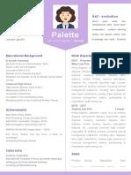 Simple Purple Resume-WPS Office