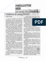 Manila Bulletin, Nov. 20, 2019, House leader warns of constitutional violation in taxing POGO.pdf