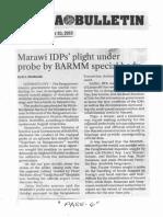 Manila Bulletin, Nov. 20, 2019, Marawi IDPs plight under probe by BARMM special body.pdf
