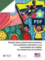 Estudio perfil socioeconomico de la población venezolana