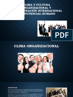 Clima y Cultura Organizacional (1)