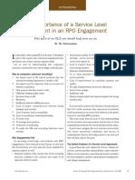 The Importance of an SLA in RPO
