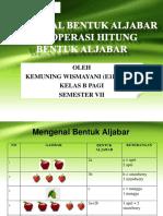 PM1. Operasi Bentuk Aljabar