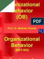 Organizational Behaviour - MGT502 Power Point Slides Lecture 1