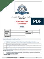 2019 assessment task cover sheet