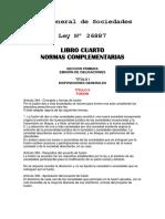 Ley General de Sociedades Fusion de Sociedades