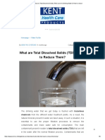 What Are Total Dissolved Solids (TDS) Level in Drinking Water & How to Reduce