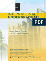 Undergraduate International Program Brochure 2018