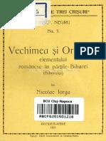 Vechimea Şi Originea Elementului Românesc În Părţile Biharei (Bihorului)