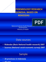 Cancer Epidemiology Research In Indonesia Based On Riskesdas