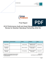 2016 Performance Audit and Asset Management System Review Report