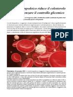 L'Acido Bempedoico Riduce Il Colesterolo Senza Influenzare Il Controllo Glicemico
