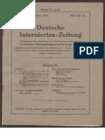 Deutsche Internierten Zeitung 1916 1919