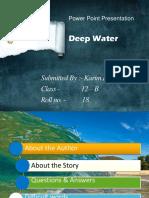 Class 12 English PPT Deep Water