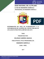 Flora y Fauna de jallihualla Puno