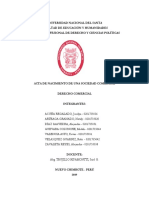 Acta de Modificación Del Estatuto